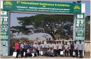"""Participation in IInd International Conference & Exhibition on """"Sustainability, Innovation & Diversification in Sugar & Allied Industry"""""""